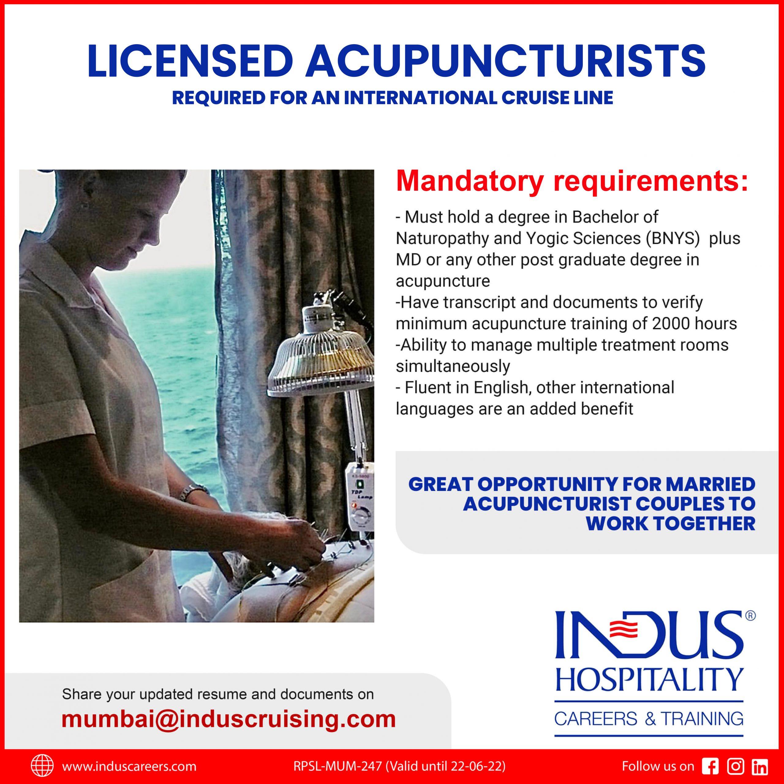 Acupuncturist required